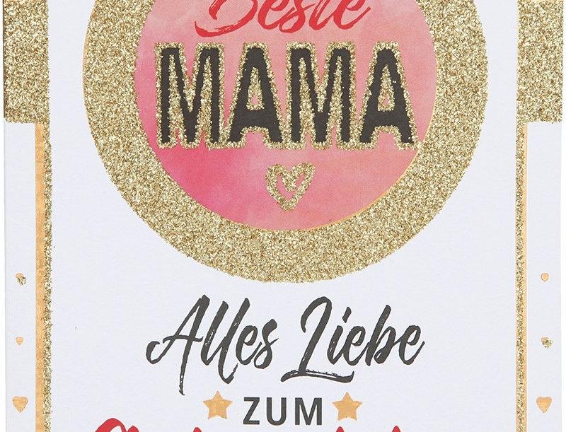 "Glückwunschkarte ""Beste Mama"""