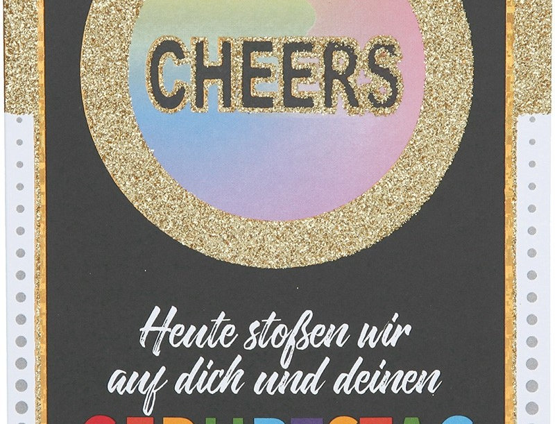 "Glückwunschkarte ""Cheers"""
