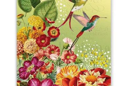 Glückwunschkarte Kolibri grün