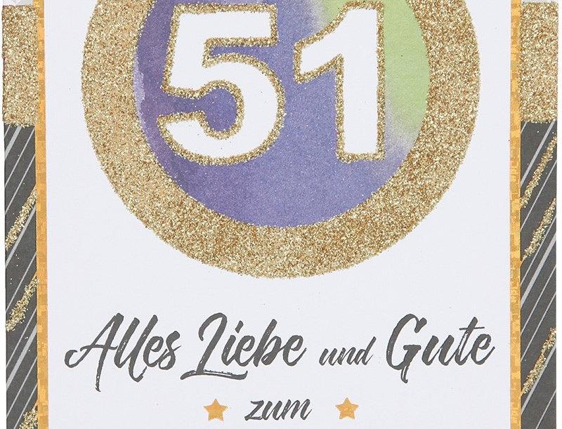 Glückwunschkarte zum 51. Geburtstag