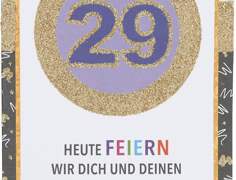 Glückwunschkarte zum 29. Geburtstag