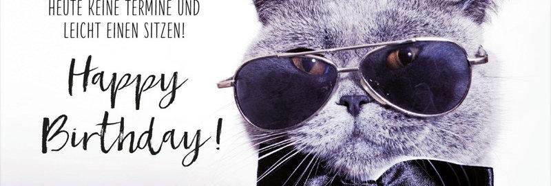 "Geburtstagskarte ""coole Katze"""