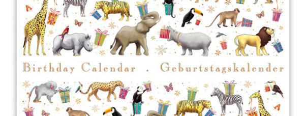 Geburtstagskalender Design: Tiere