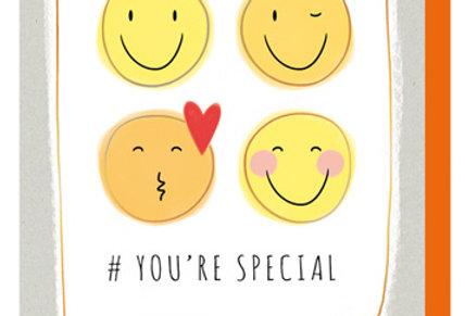 Glückwunschkarte mit Emoji