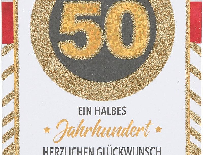 Glückwunschkarte zum 50. Geburtstag