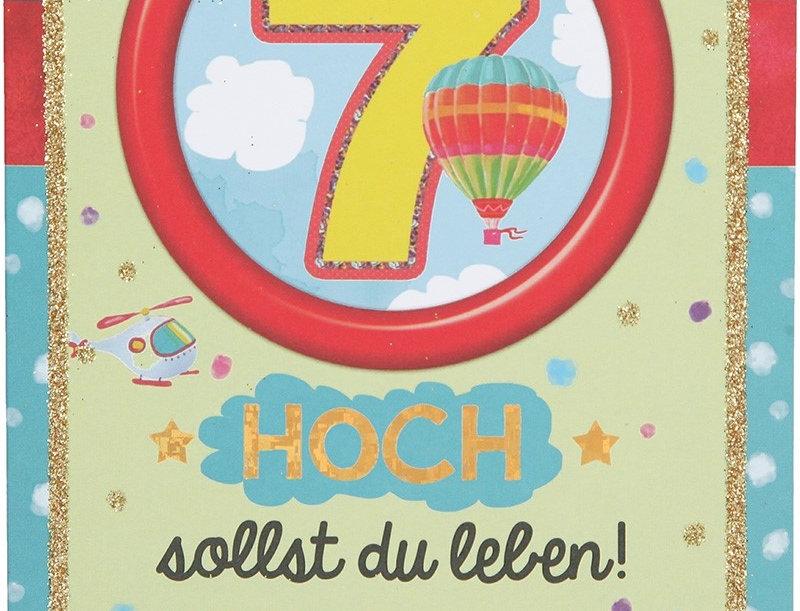 Glückwunschkarte zum 7. Geburtstag