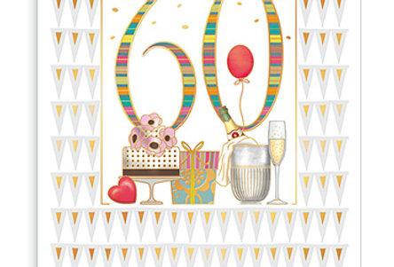 Glückwunschkarte zum 60. Geburtstag