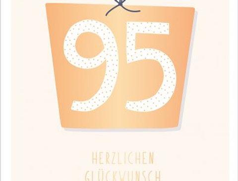 Geburtstagskarte zum 95.  Geburtstag
