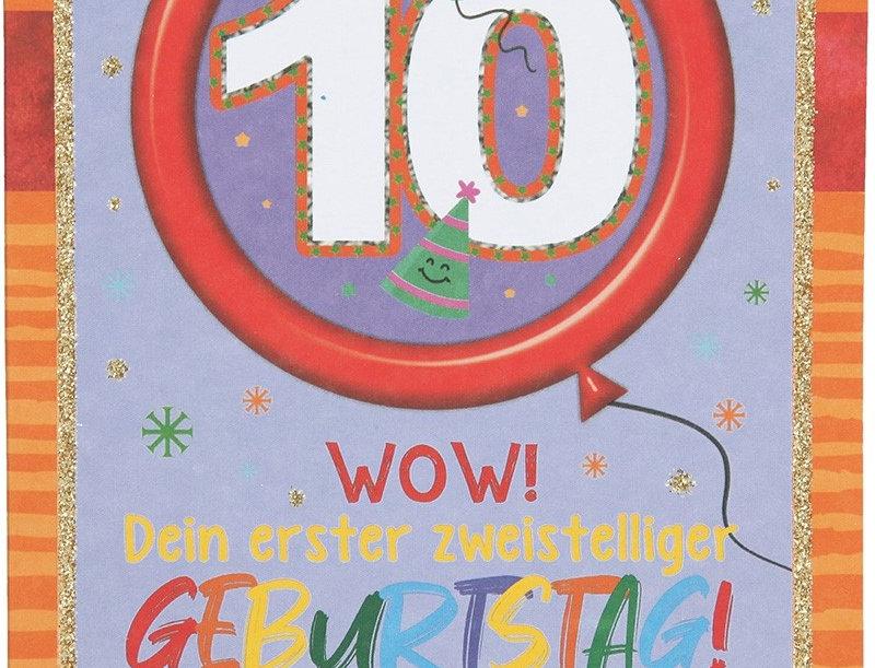 Glückwunschkarte zum 10. Geburtstag
