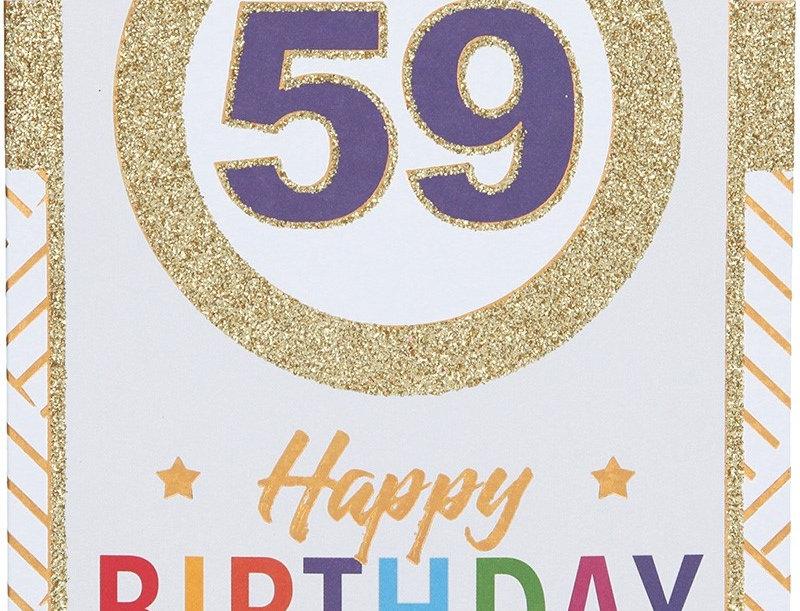 Glückwunschkarte zum 59. Geburtstag