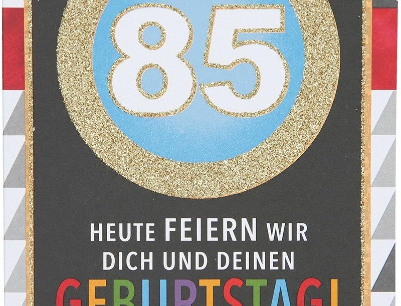 Glückwunschkarte zum 85. Geburtstag