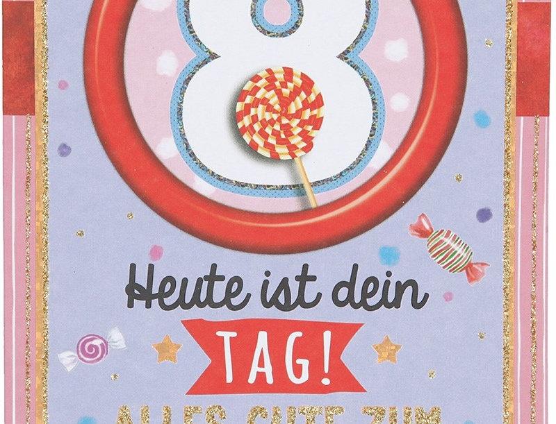 Glückwunschkarte zum 8. Geburtstag