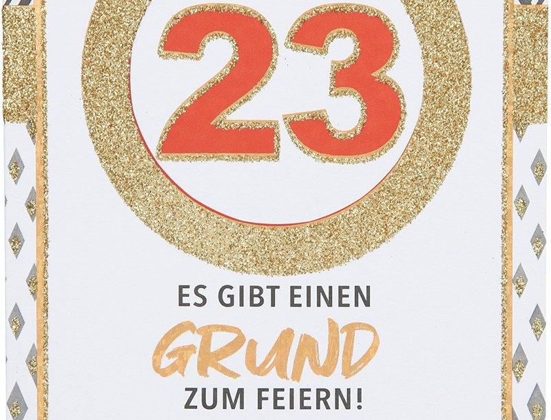 Glückwunschkarte zum 23. Geburtstag