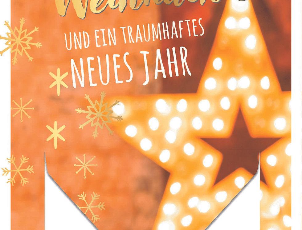 """Stimmungsvolle Weihnachtskarte """"Geldgeschenk"""""""