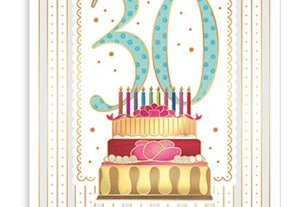 Kopie von Glückwunschkarte zum 30. Geburtstag