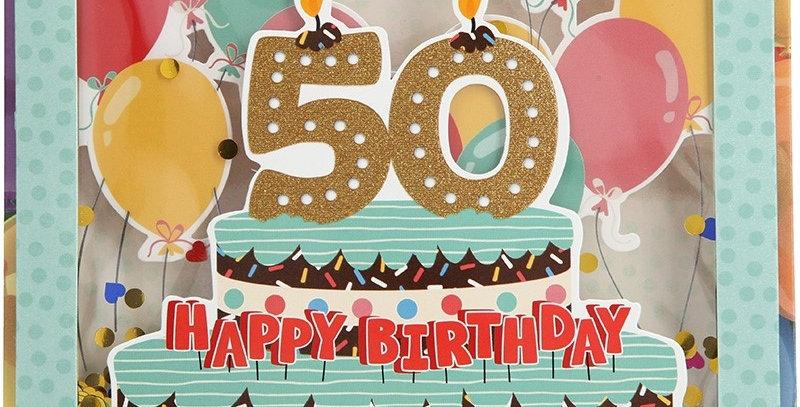 Konfetticard: 50 Happy Birthday
