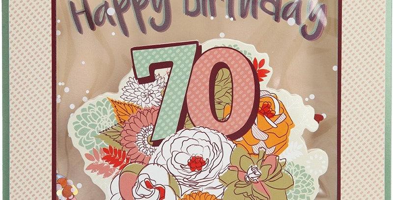 Konfetticard: 70 Happy Birthday