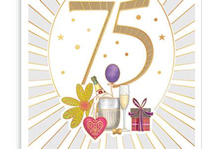Glückwunschkarte zum 75. Geburtstag