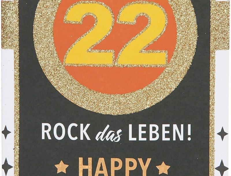 Glückwunschkarte zum 22. Geburtstag