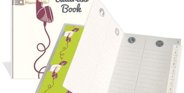 """Adressbuch """"Motiv Telefonhörer"""""""