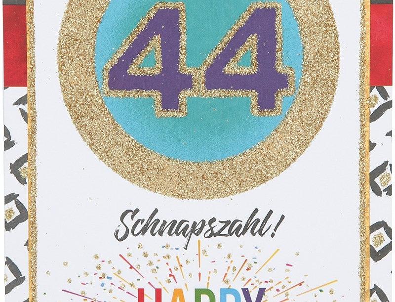 Glückwunschkarte zum 44. Geburtstag