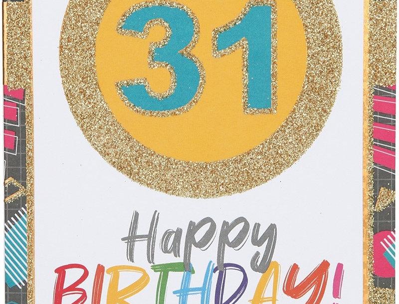 Glückwunschkarte zum 31. Geburtstag