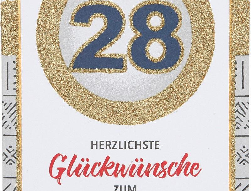 Glückwunschkarte zum 28. Geburtstag