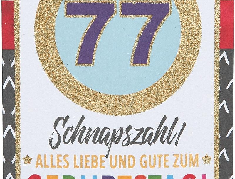 Glückwunschkarte zum 77. Geburtstag