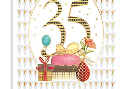 Kopie von Glückwunschkarte zum 35. Geburtstag