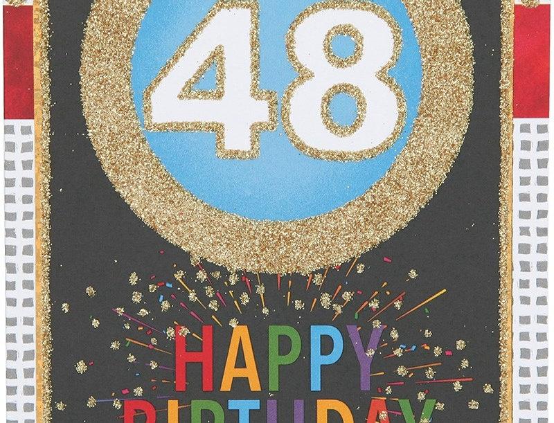 Glückwunschkarte zum 48. Geburtstag