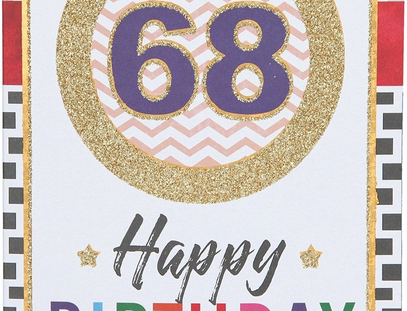 Glückwunschkarte zum 68. Geburtstag