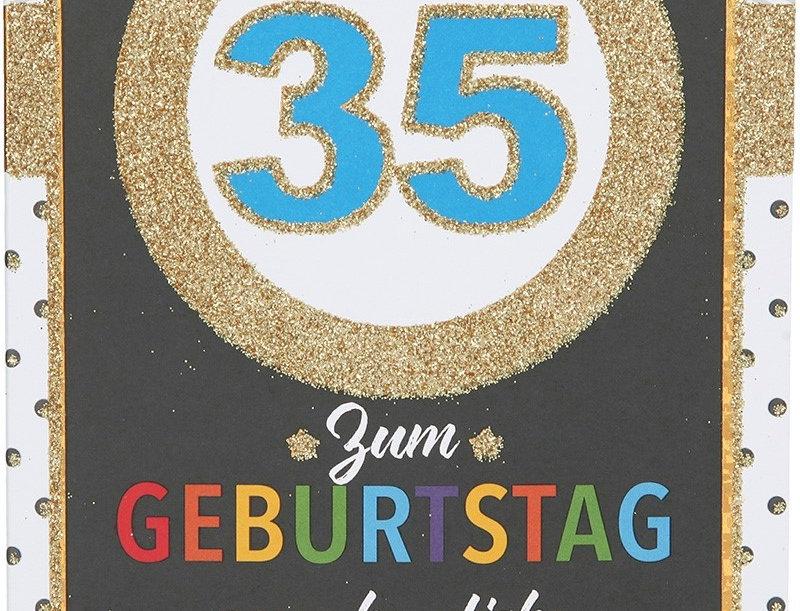 Glückwunschkarte zum 35. Geburtstag