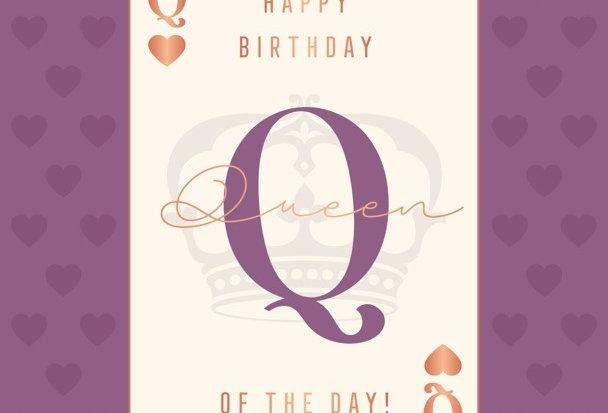 """Geburtstagskarte """"Queen of the Day"""""""