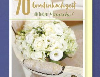 Glückwunschkarte zur Gnaden Hochzeit