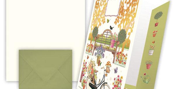"Briefpapier ""Motiv Garten"""