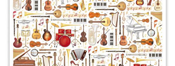 Geburtstagskalender Design: Musik