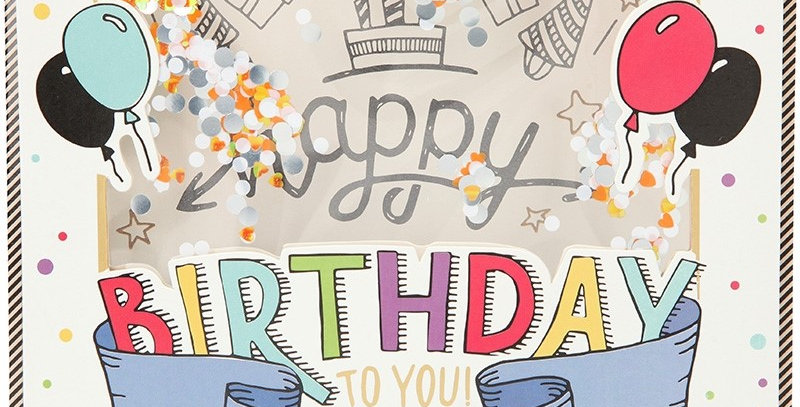 Konfetticard: Happy Birthday to you. It's your day!