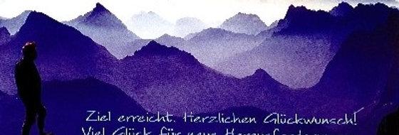"""Glückwunschkarte """"Geschafft"""""""