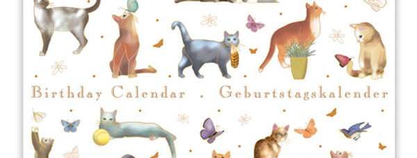 Geburtstagskalender Design: Katzen
