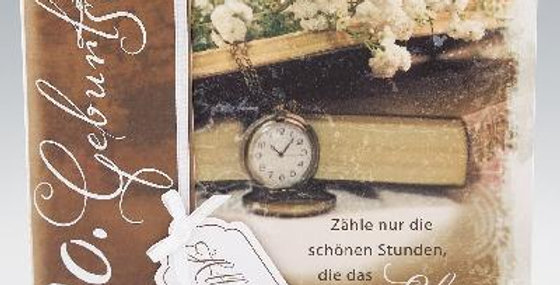 Stilvoll gestaltete Geburtstagskarte zum 80.