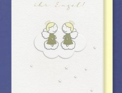 Karte zur Geburt von Zwillingen