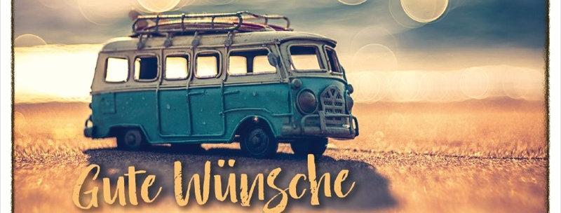 """Postkarte """"Gute Wünsche"""""""