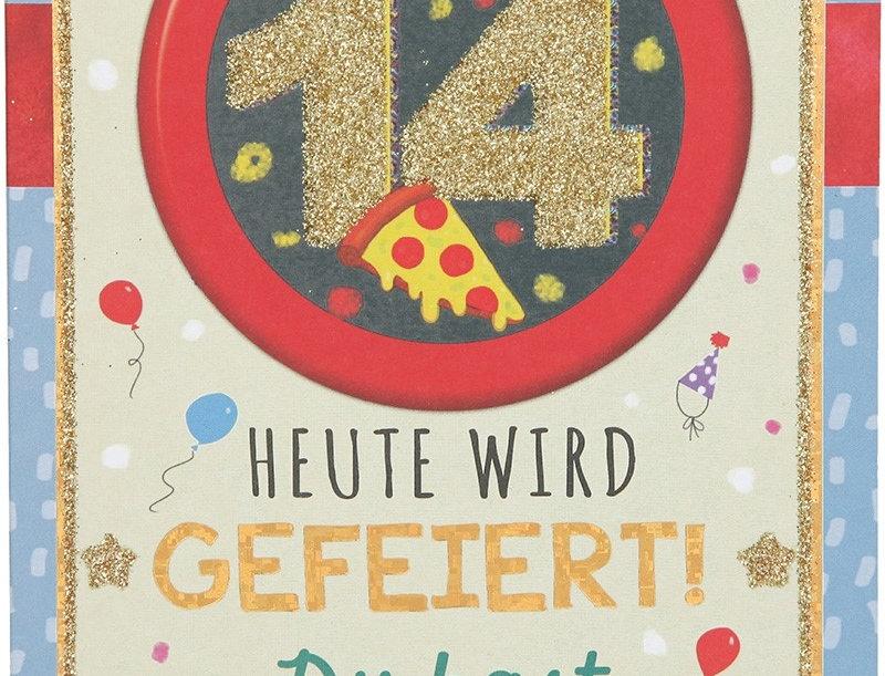 Glückwunschkarte zum 14. Geburtstag