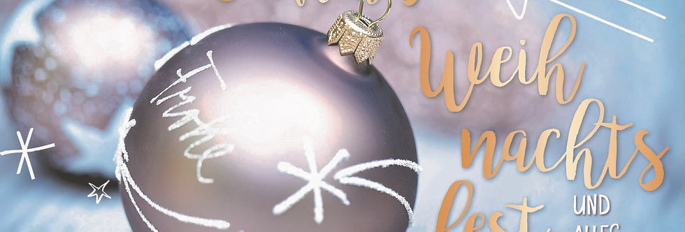 Stimmungsvolle Weihnachtskarte