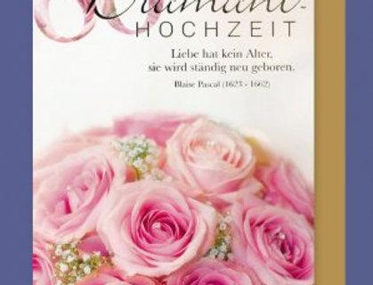 Glückwunschkarte zur Diamantenen Hochzeit