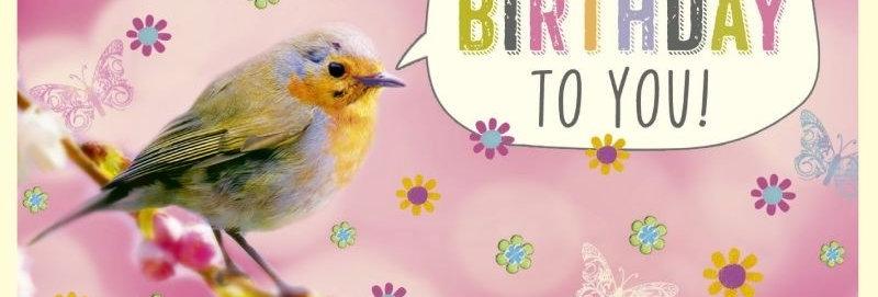 Mini Geburtstagskarte 8,2x12cm