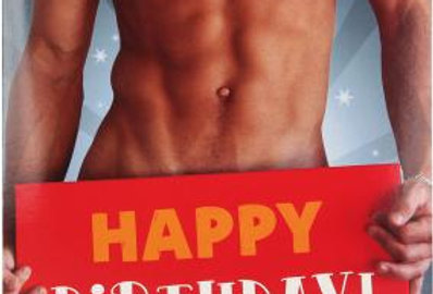 Geburtstagskarte mit sexy Typ