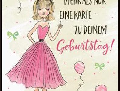 Geburtstagskarte Champagner für die Dame