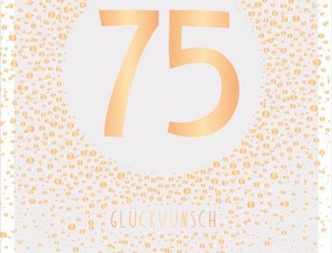 Geburtstagskarte zum 75.  Geburtstag