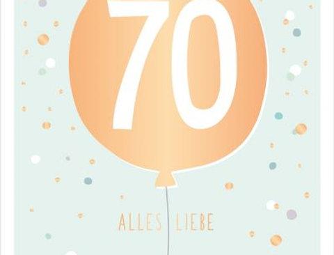 Geburtstagskarte zum 70.  Geburtstag